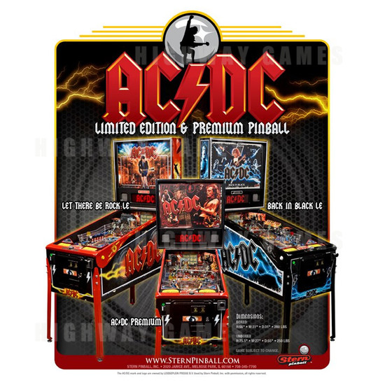 AC/DC Limited Edition (LE) Pinball Machine - Brochure 1