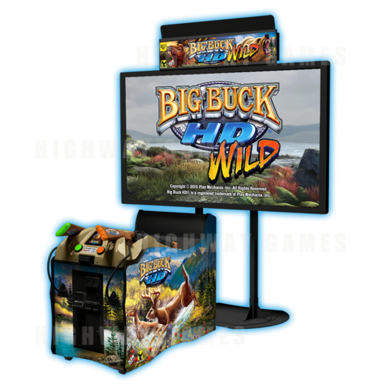 Big Buck HD Wild Panorama DLX Arcade Machine - Big Buck HD Wild Panorama DLX Arcade Machine