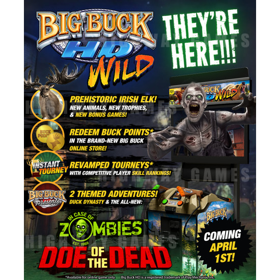 Big Buck HD Wild Panorama DLX Arcade Machine - Big Buck HD Wild Panorama DLX Arcade Machine Flyer