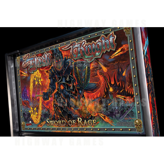 Black Knight: Sword of Rage Pinball Machine - Limited Edition Version - BKSOR Backbox Artwork