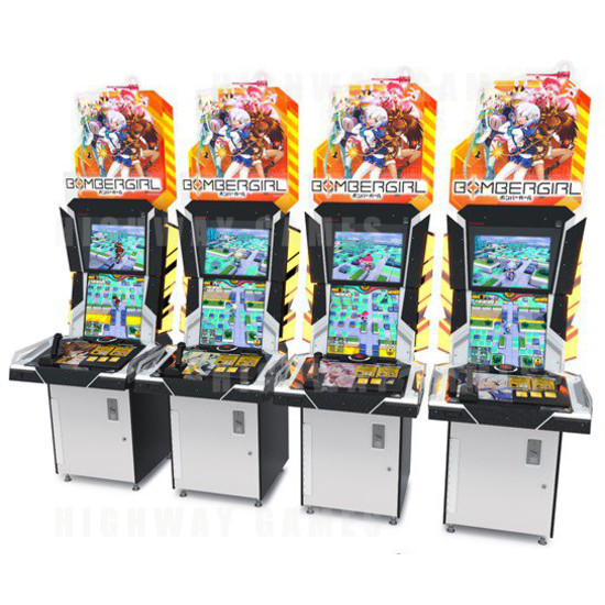 Bombergirl Arcade Game - The Bombergirl arcade cabinets