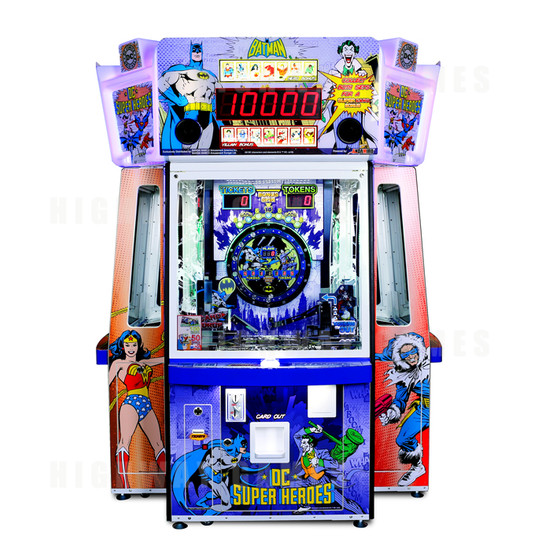 DC Superheroes 4 Player Ticket Pusher Machine - Batman design