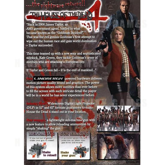 House Of The Dead 4 Sd Brochure Back