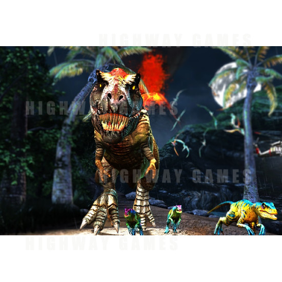 Jurassic Park Arcade Deluxe Motion Edition Machine - Jurassic Park Arcade Machine Screenshot