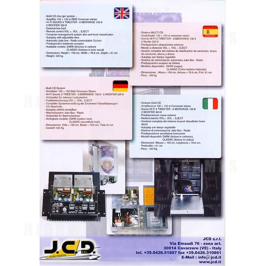 Mithos Classic Jukebox - Brochure Back