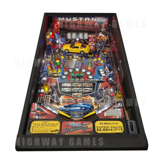 Mustang Pro Pinball Machine - Playfield