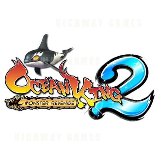Ocean King 2: Monster's Revenge 6 Player Arcade Machine - Ocean King 2: Monster's Revenge Arcade Machine Logo