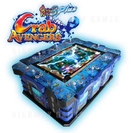 Ocean King 3: Crab Avengers Arcade Fish Machine - 8 players - Arcooda 8 player fish machine angle view