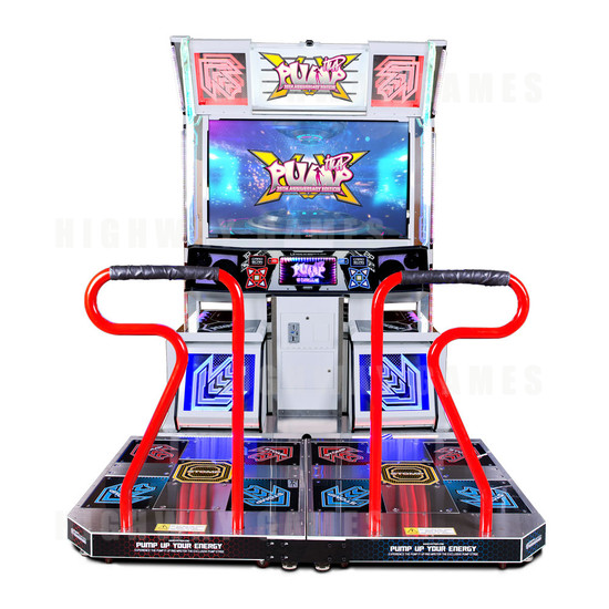 Pump It Up XX 20th Anniversary Edition Arcade Machine - Pump it Up XX White Edition
