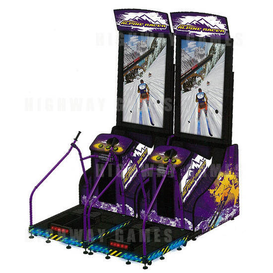 Super Alpine Racer Twin Arcade Machine - Twin Cabinet