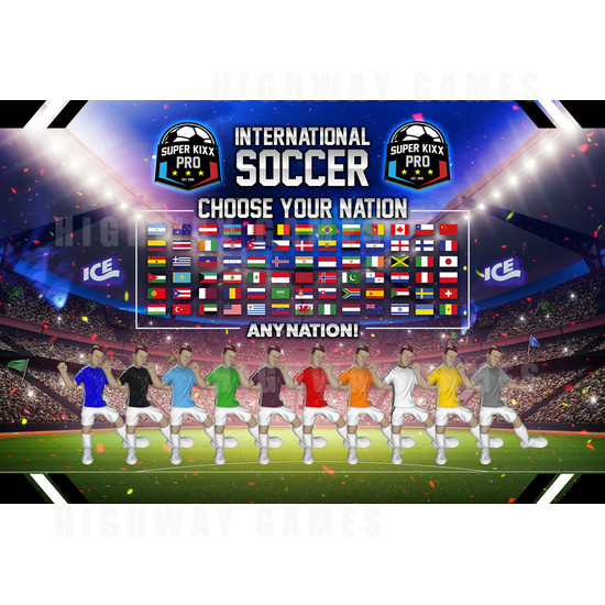 Super Kixx Pro Bubble Soccer Machine - Super Kixx Pro Player Selection