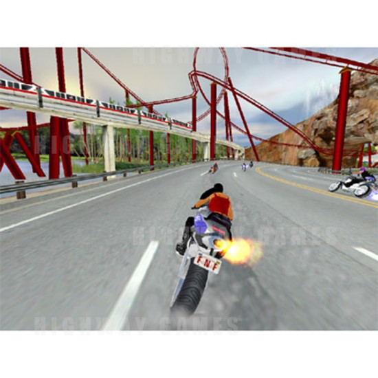 The Fast and the Furious: Super Bikes Arcade Machine - Screenshot
