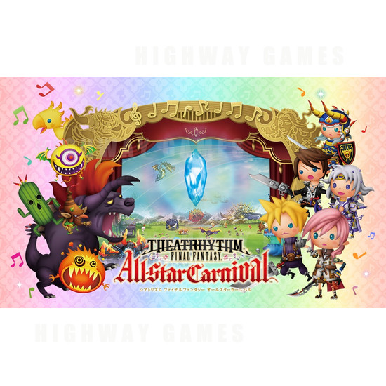 Theatrhythm Final Fantasy All-Star Carnival Arcade Machine - TheatRhythm Final Fantasy All-Star Carnival
