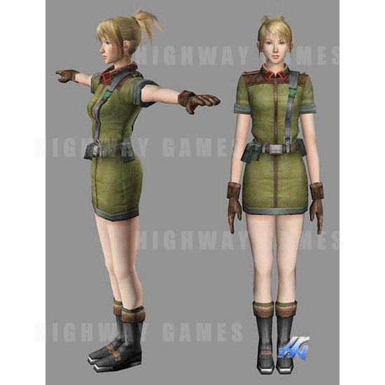 Time Crisis 3 SD (Japan Model) Arcade Machine - Aricia Character Design
