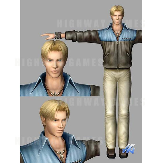 Time Crisis 3 SD (Japan Model) Arcade Machine - Wesley Character Design
