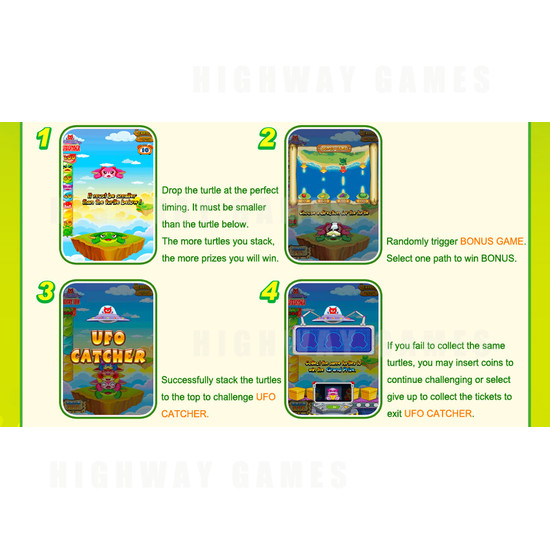 Turtle Adventure Single Arcade Machine - Screenshot