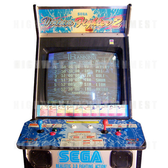 Virtua Fighter 2 - Header, Screen & Control Panel