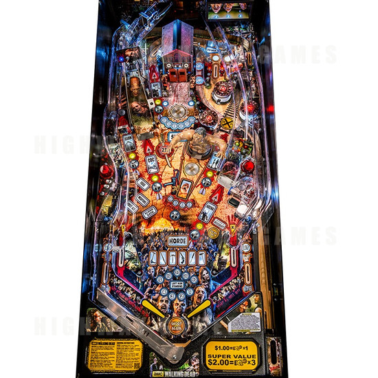The Walking Dead Limited Edition (LE) Pinball Machine - Playfield