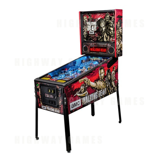 The Walking Dead Pro Pinball Machine - Cabinet