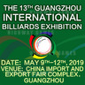 Guangzhou Billards Exhibition (GBE2019)
